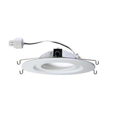 5 in. and 6 in. White Integrated LED Diffusion Recessed Trim with G24-4 Pin Connector - 4000K (4-Pack)
