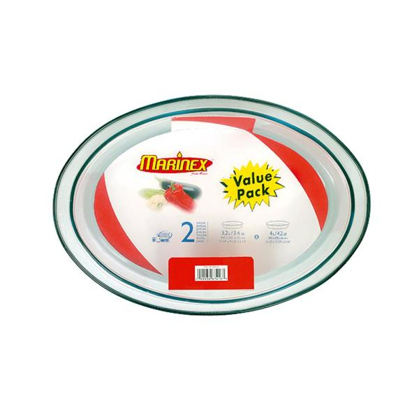 Marinex Terrina 2-Piece Oval Glass Roaster Set - Shrink Wrapped 04GD16735621