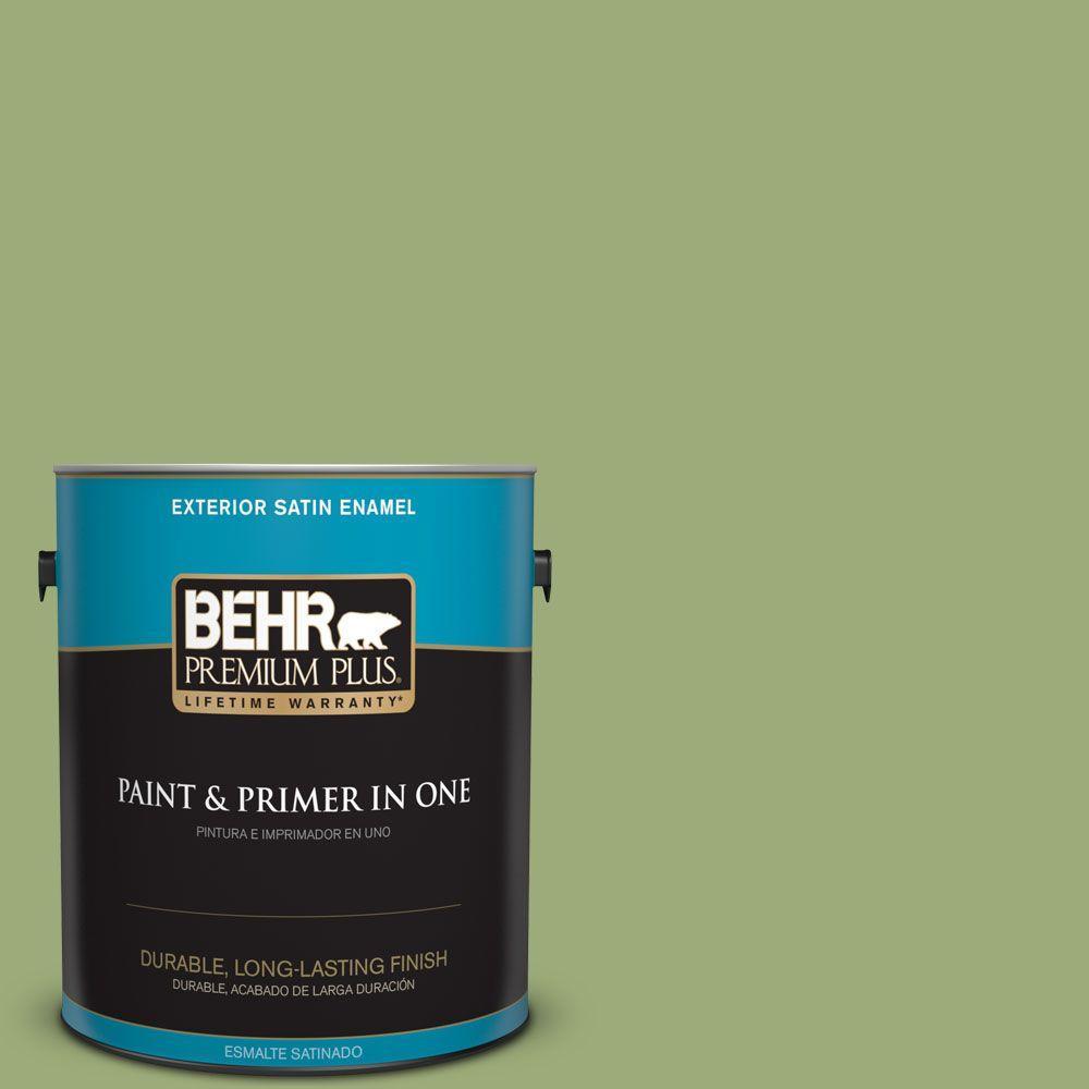 1-gal. #BIC-12 Siamese Green Satin Enamel Exterior Paint