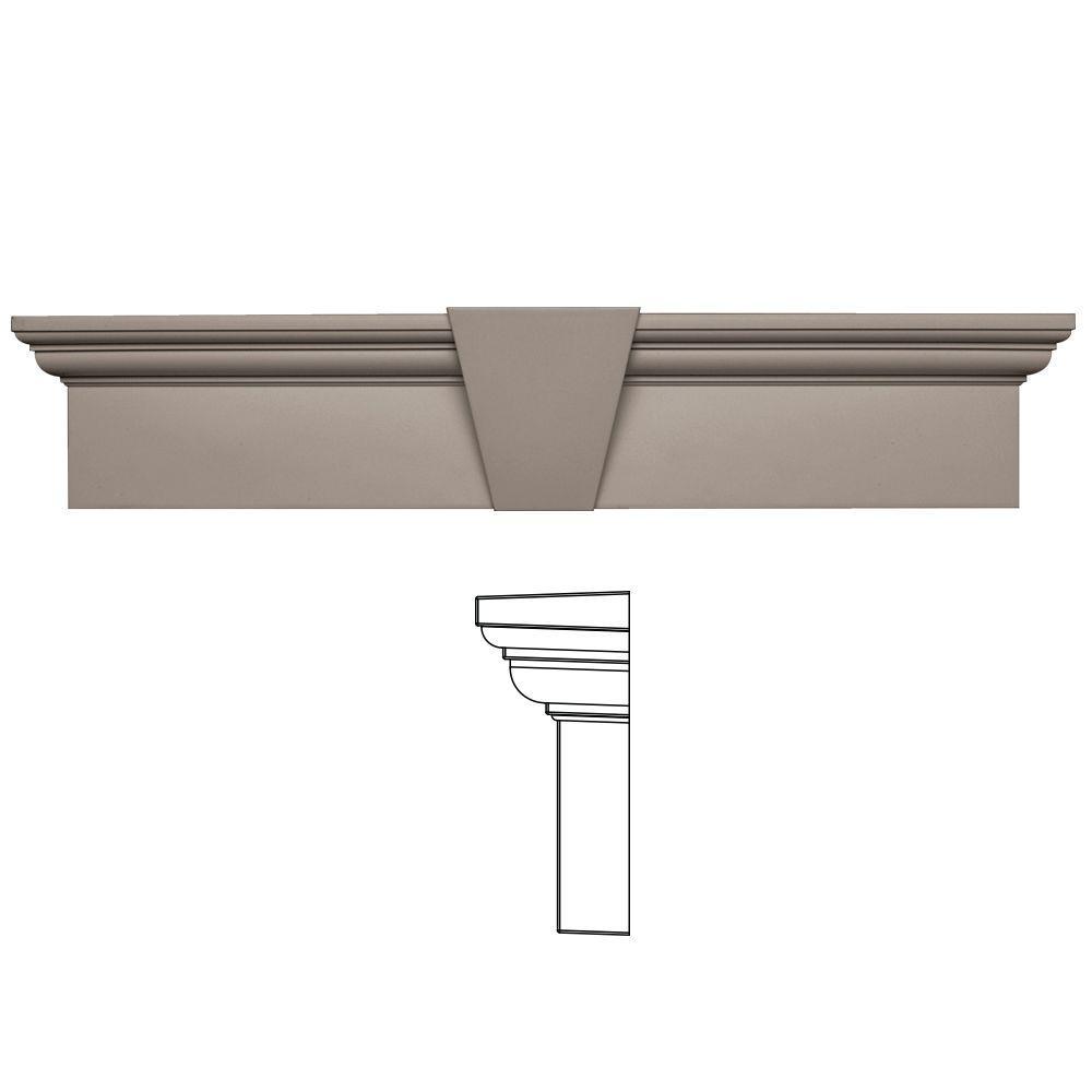 Builders Edge 9 in. x 43-5/8 in. Flat Panel Window Header with Keystone in 008 Clay