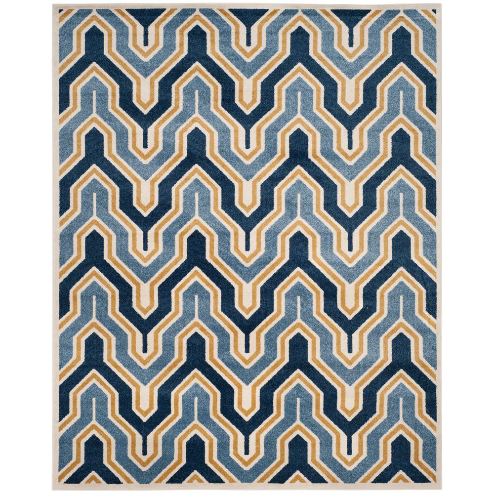 Amherst Ivory/Gold 8 ft. x 10 ft. Indoor/Outdoor Area Rug