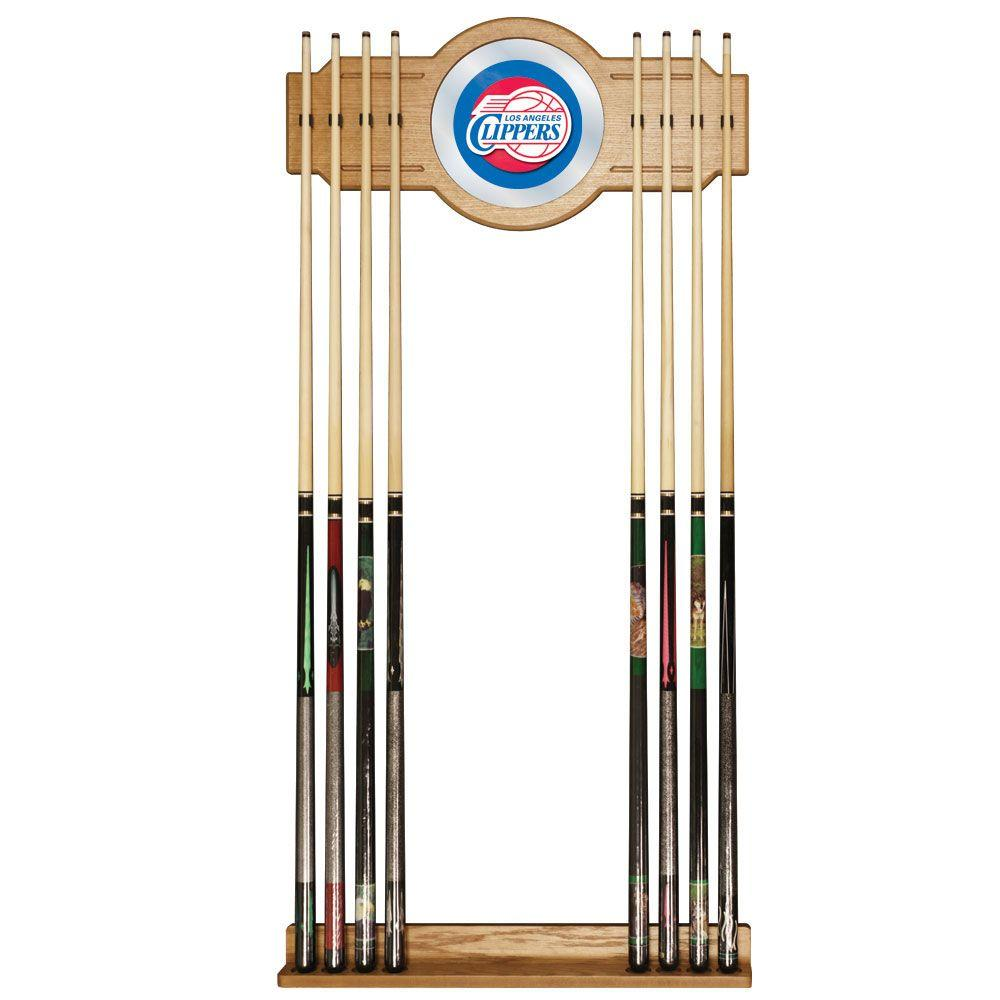 Los Angeles Clippers NBA 30 in. Wooden Billiard Cue Rack with