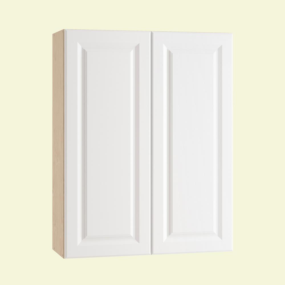Anzio Ready To Emble 30 X 38 12 In Wall Cabinet With 2 Soft Close Doors Polar White