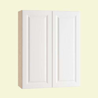 Anzio Ready to Assemble 30 x 38 x 12 in. Wall Cabinet with 2 Soft Close Doors in Polar White