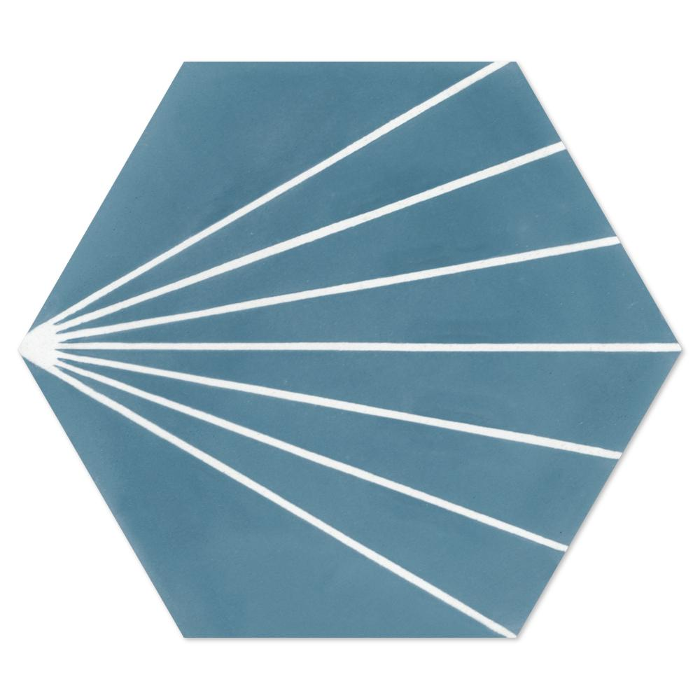 Villa Lagoon Tile Spark C Stone Blue 8 in. x 9 in. Cement Handmade Floor and Wall Tile (Box of 16/ 5.93 sq. ft.)