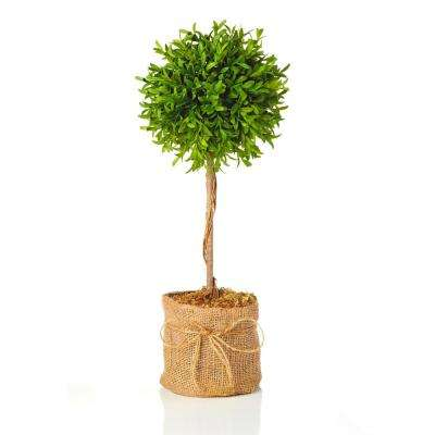 Myrtle Collection 20 in. Faux Myrtle Ball Topiary in Pot (2-Pack)