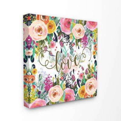 """30 in. x 30 in. """"Elegant Love Floral"""" by Tara Moss Printed Canvas Wall Art"""