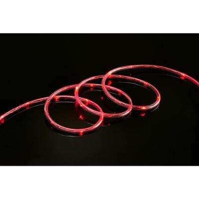 Red rope lights christmas lights the home depot red led rope light 2 pack aloadofball Gallery