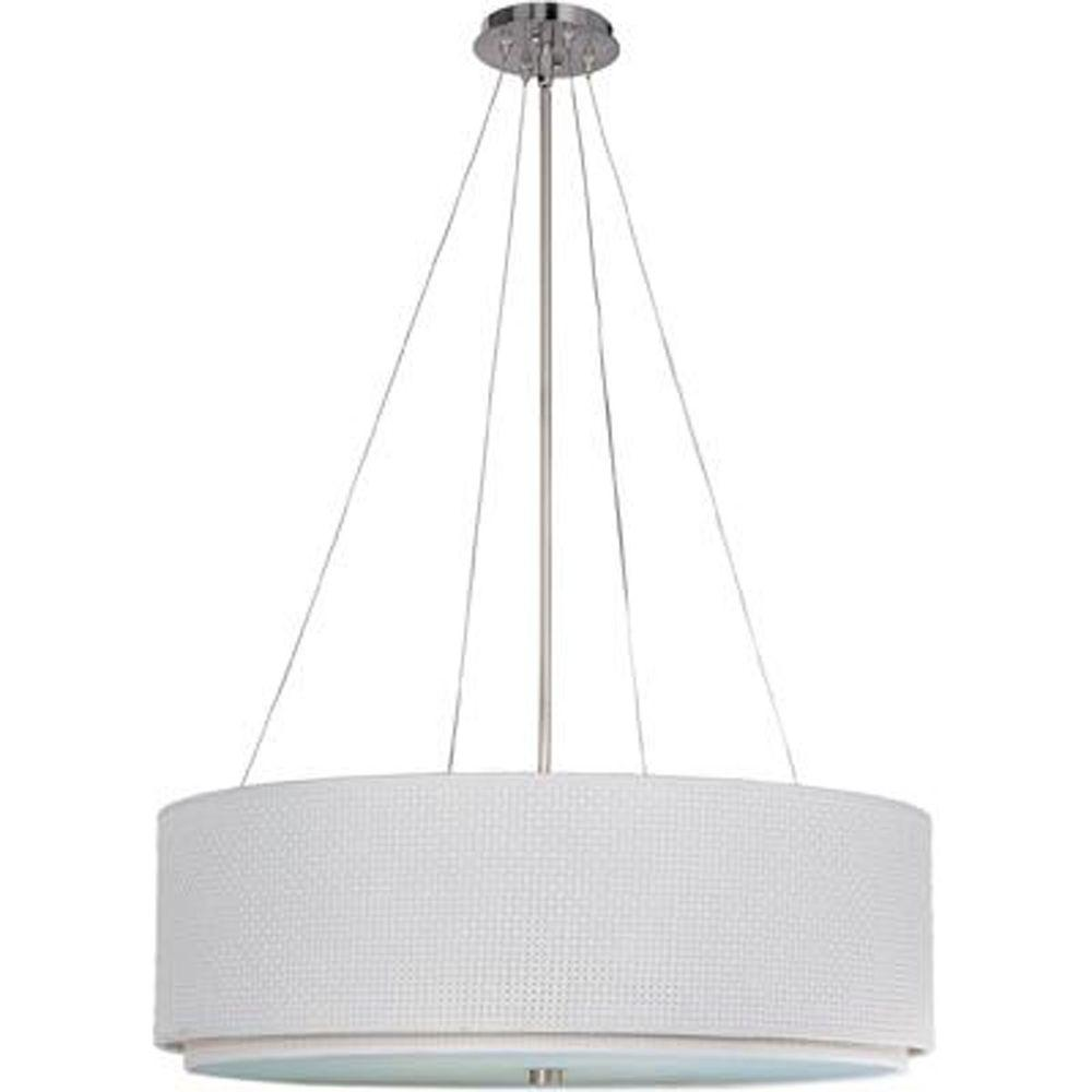 null Elements 3-Light Satin Nickel Pendant