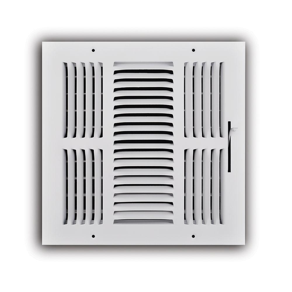 10 in. x 10 in. 3-Way Wall/Ceiling Register