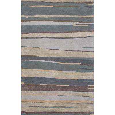 Hand-Tufted Balsam Green 10 ft. x 14 ft. Abstract Area Rug