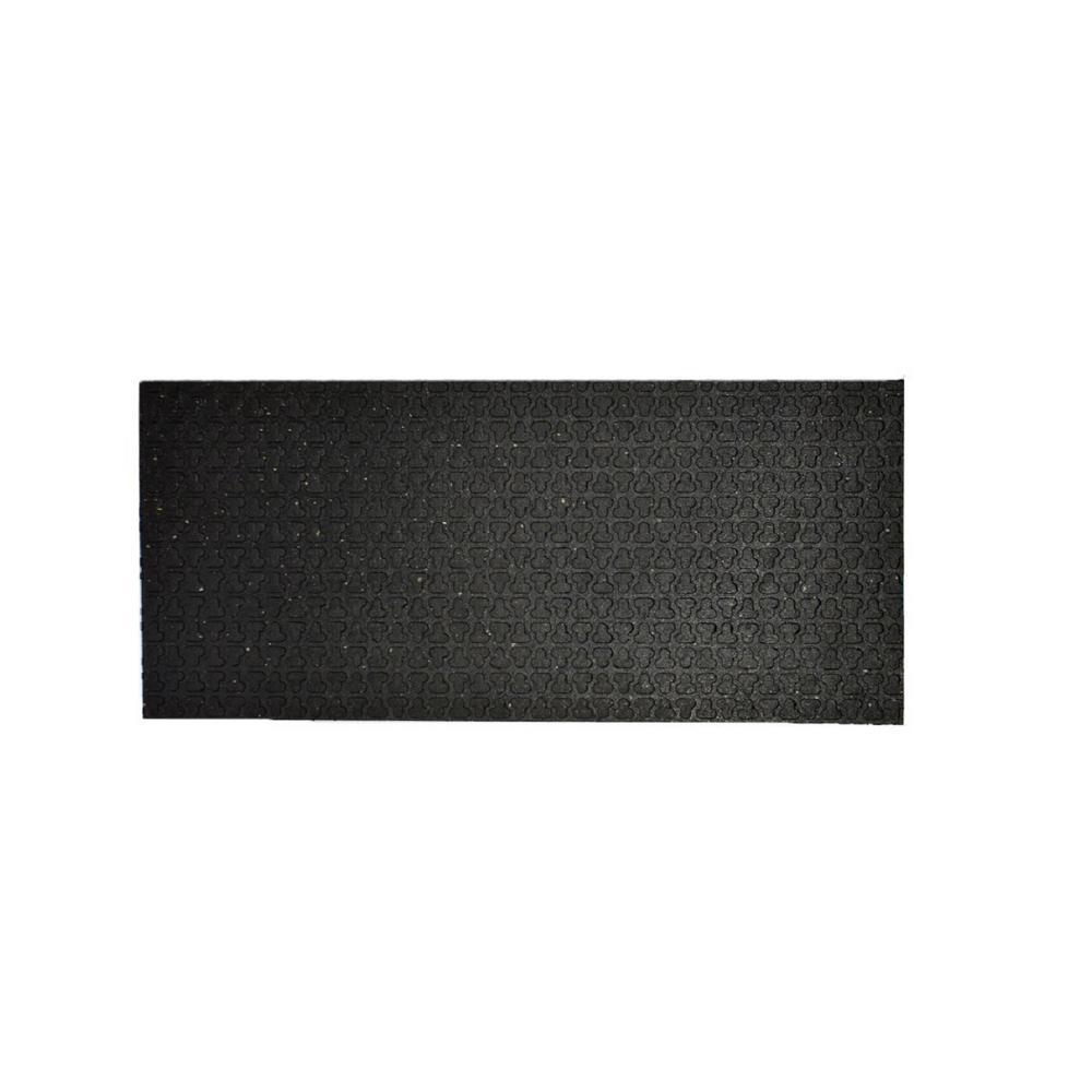 Technoflex Technoflex Secure Step-Black 8 in. x 24 in. Recycled Rubber Stair Tread (3-Pack)