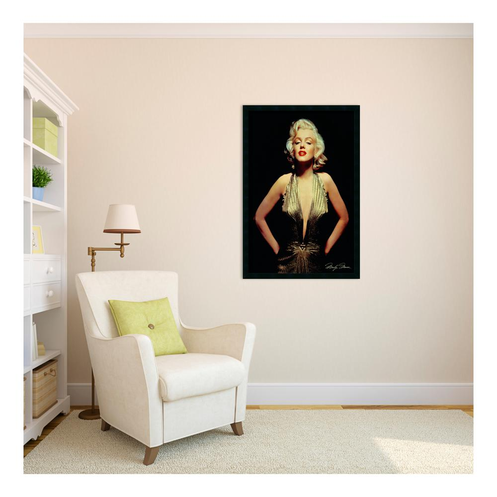 "25.5 in. W x 37.5 in. H ""Marilyn Monroe"" (Gold) Framed"