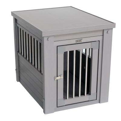 Indoor Pet Furniture with Chew Resistant Stainless Steel Grills in Nantucket Gray - Large