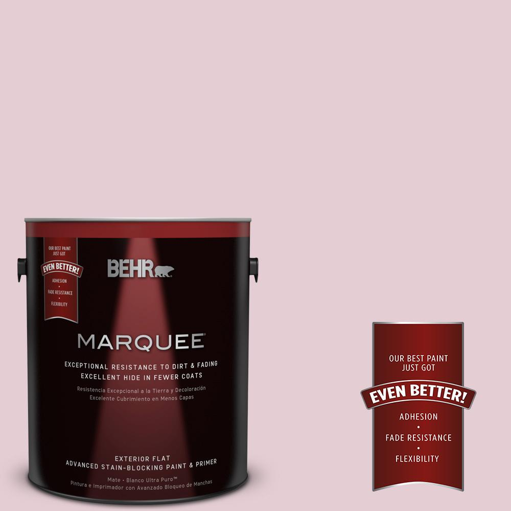 BEHR MARQUEE 1-gal. #100C-2 Cool Pink Flat Exterior Paint
