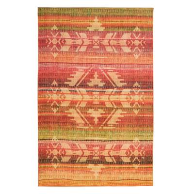 Tribal Blanket Sierra 8 ft. x 10 ft. Striped Area Rug