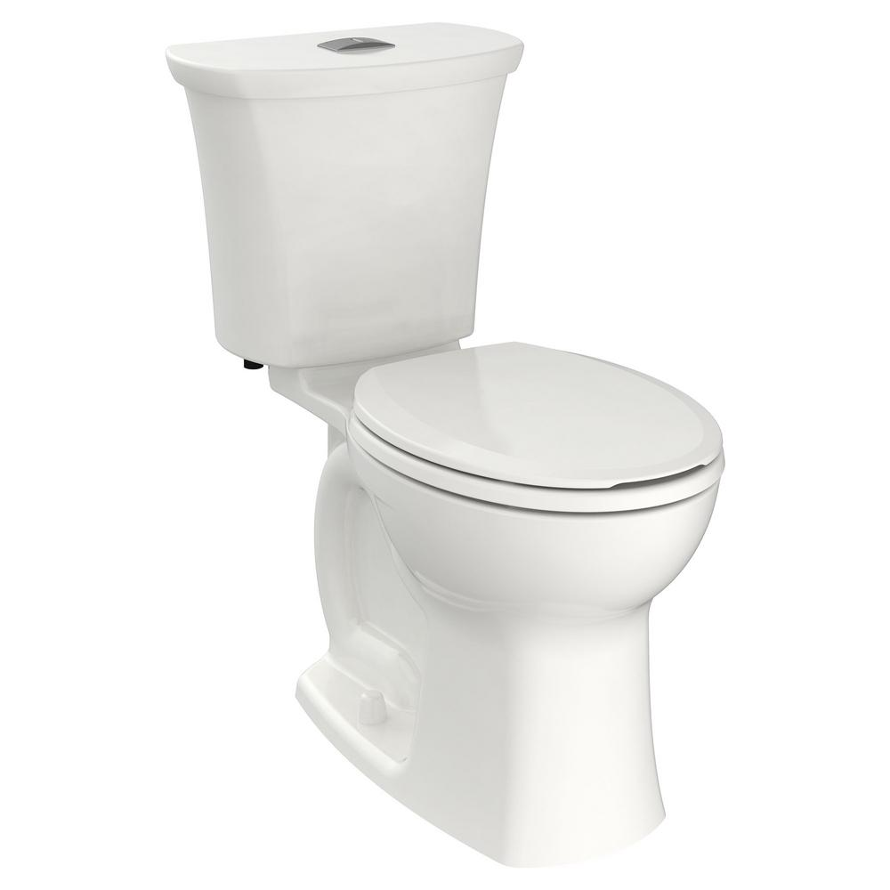 American Standard Edgemere 2 Piece 1 1 1 6 Gpf Dual Flush Right Height Round Front Toilet In White Seat Not Included 204ba200 020 The Home Depot