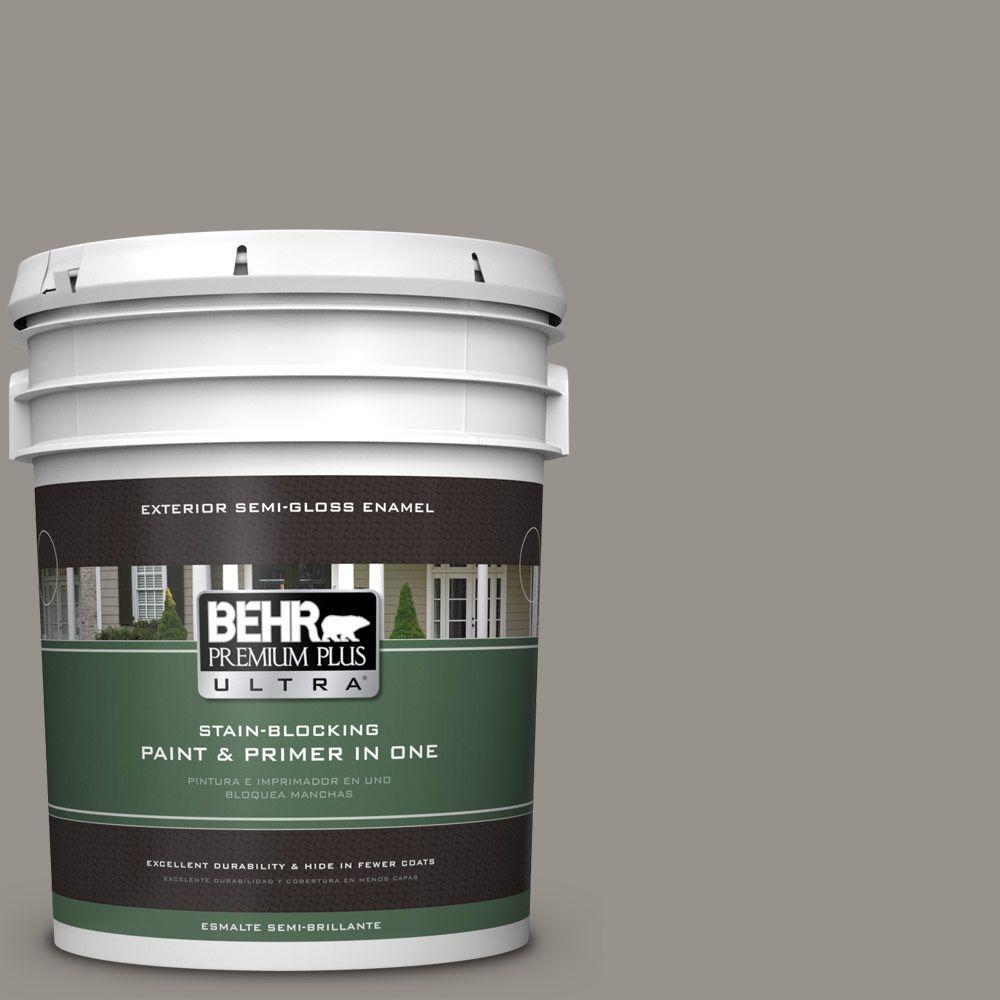 BEHR Premium Plus Ultra 5-gal. #PPU18-16 Elephant Skin Semi-Gloss Enamel Exterior Paint