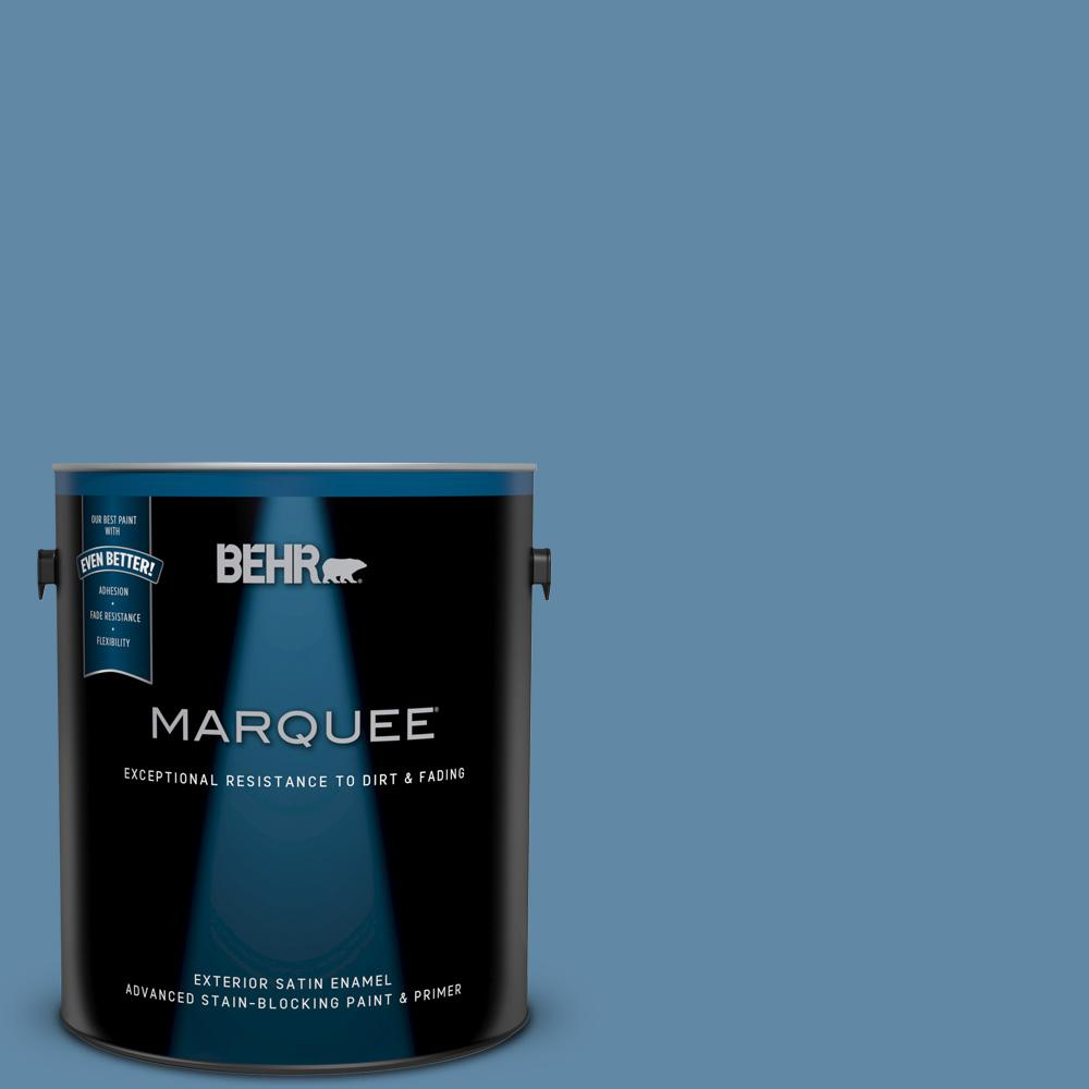 1 gal. #570D-5 Americana Satin Enamel Exterior Paint and Primer in