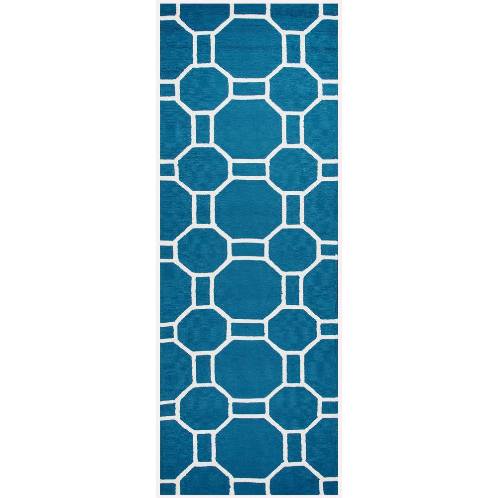 Rizzy Rugs Azzura Hill Marine Blue Geometric 2 ft. 6 in. ...