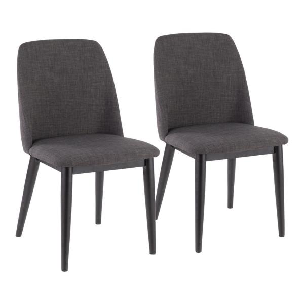 Lumisource Tintori Brown and Charcoal Dining / Accent Chair (Set of