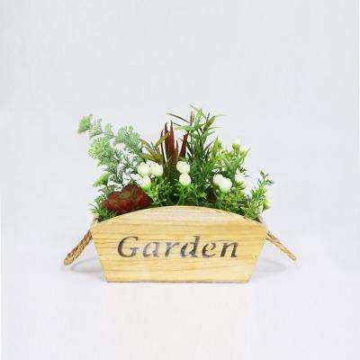 9 in. Indoor Artificial Flower and Succulent Arrangement in Planter