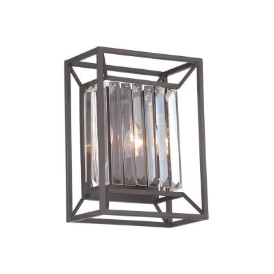 Linares 2-Light Vintage Bronze Interior Incandescent Bath Vanity Light