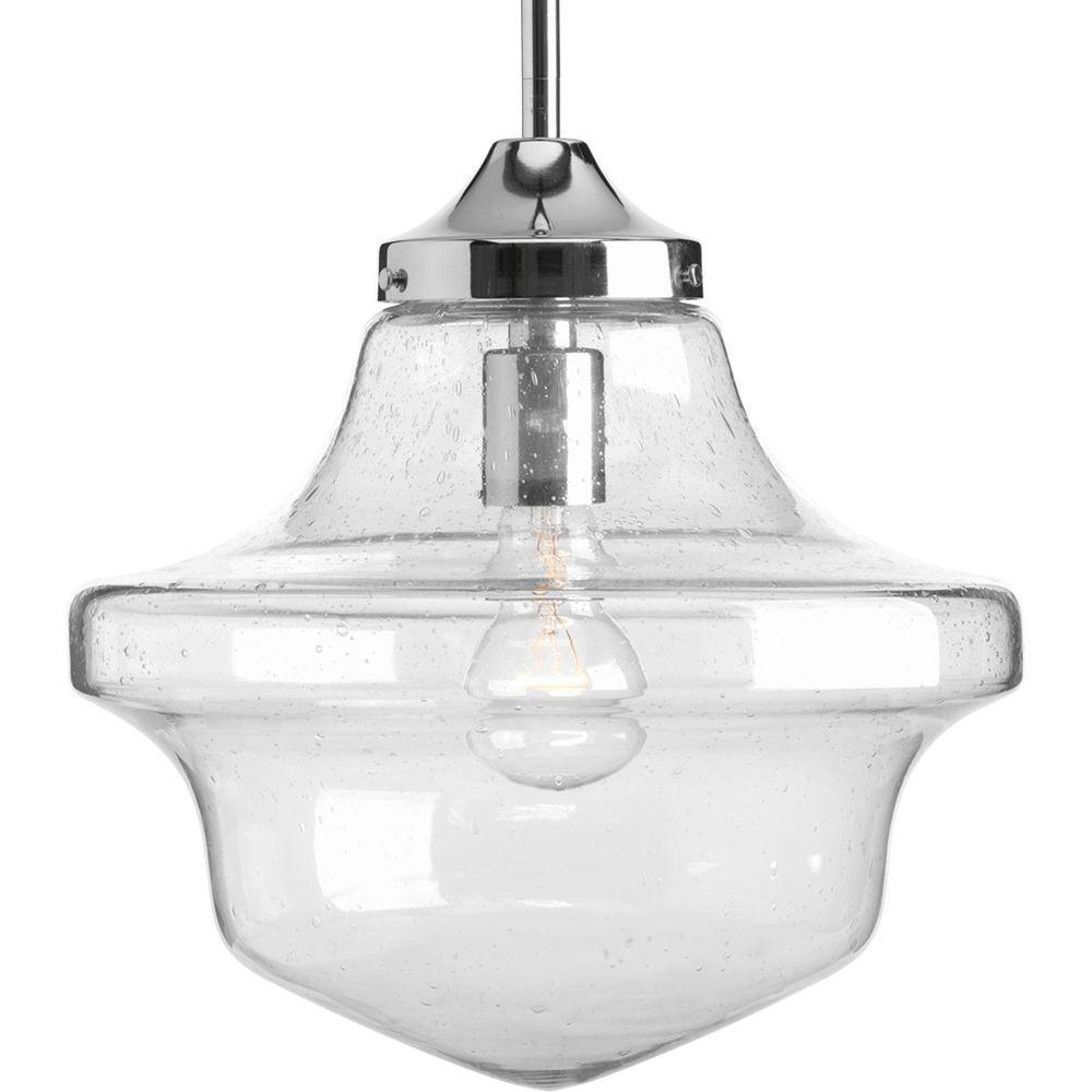schoolhouse pendant light progress lighting schoolhouse collection 1 light chrome 10441