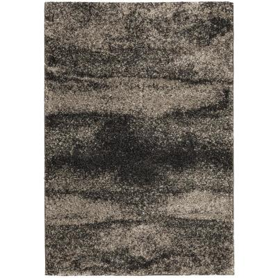 Stormy Charcoal 8 ft. x 10 ft. Abstract Area Rug