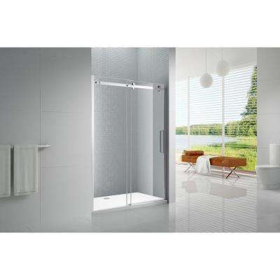 Primo 60 in. x 78 in. Frameless Sliding Shower Door in Chrome with 8 mm Clear Glass