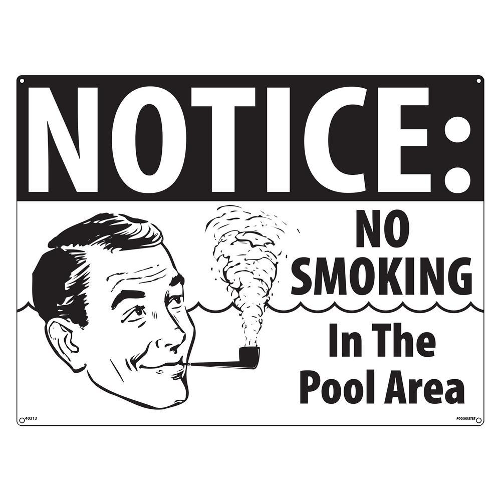 No Smoking Pool Sign - Retro