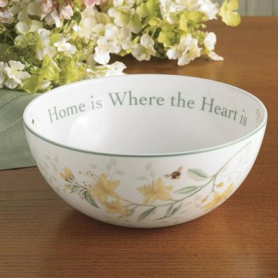 "Butterfly Meadow ""Hope Is"" 7.25 in. Dia 38 oz. Multi Color Sentiment Bowl"