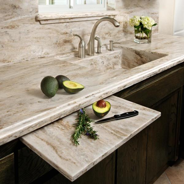 Corian 2 In X 2 In Solid Surface Countertop Sample In Sandalwood C930 15202lt The Home Depot