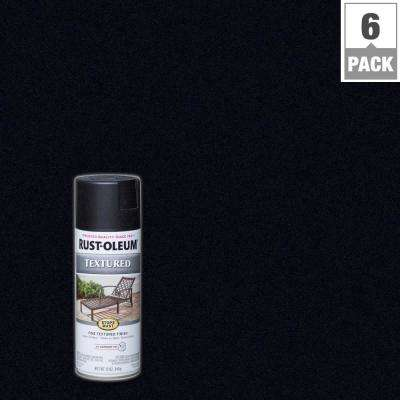 12 oz. Textured Black Protective Enamel Spray Paint (6-Pack)