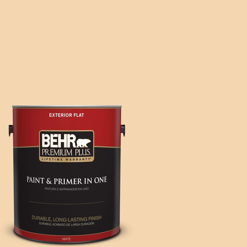 1-gal. #M270-3 Cream Custard Flat Exterior Paint