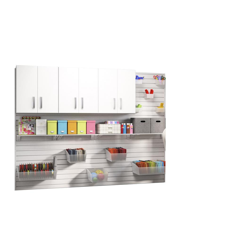 Modular Wall Mounted Craft Storage Set with Accessories in White (3-Piece)