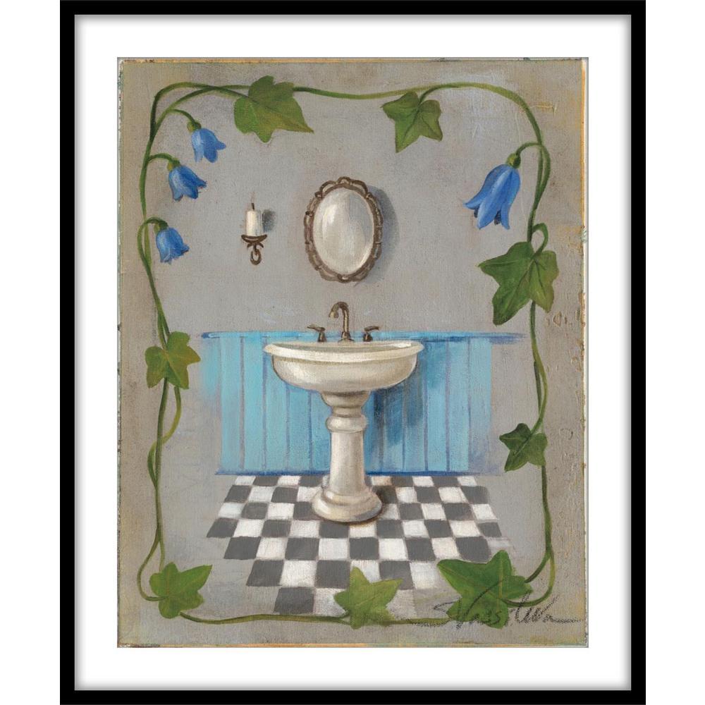"""9.75 in. x11.75 in. """"Bell Flower Bath II""""Framed Wall Art"""