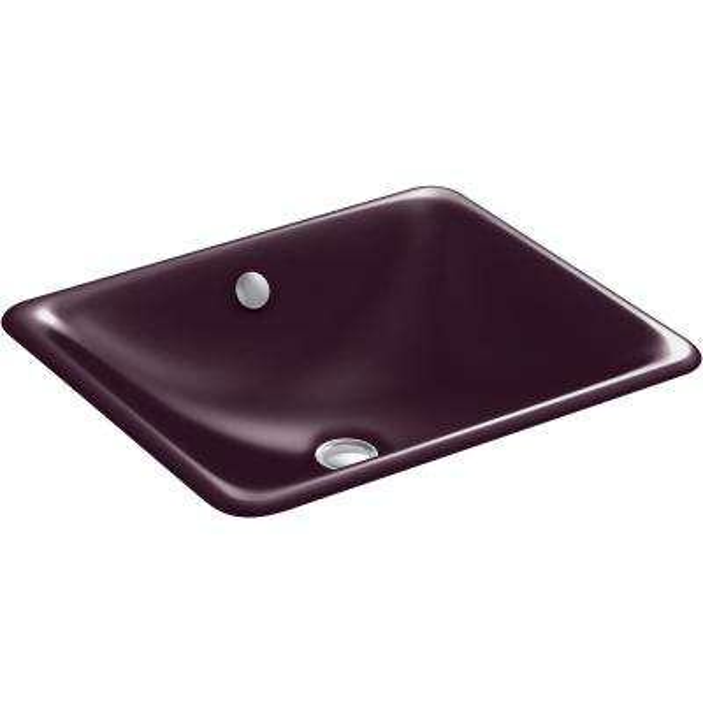 Iron Plains Drop-in Bathroom Sink in Black Plum