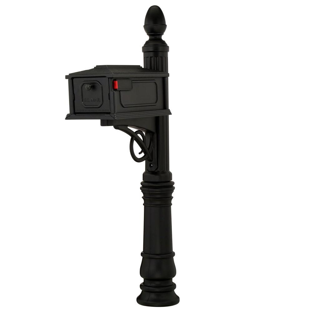 Gibraltar Stratford Mailbox Post Combination, Black
