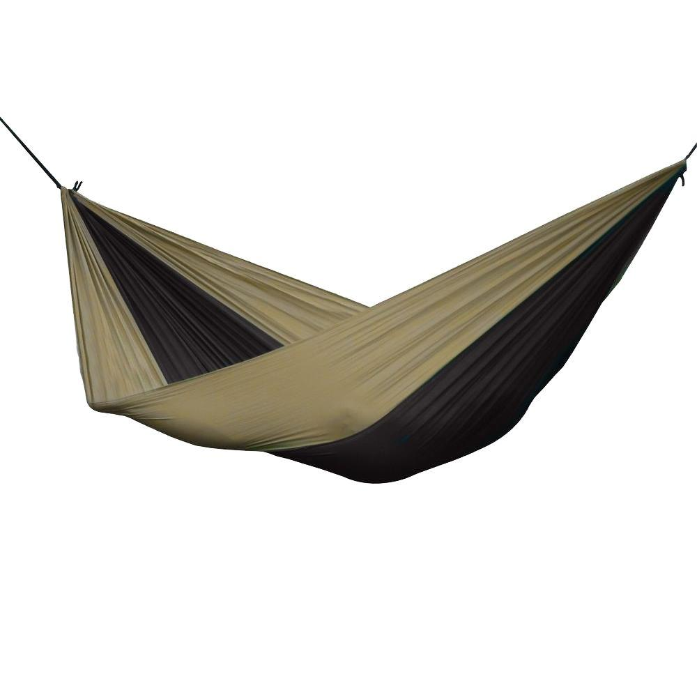 Vivere 10 ft. Parachute Double Hammock in Black/Sand