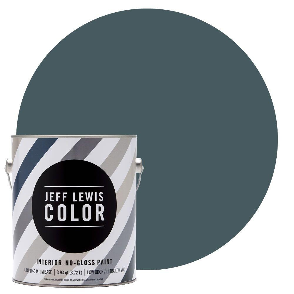 Low Voc Interior Paint: Jeff Lewis Color 1-gal. #JLC315 Lake No-Gloss Ultra-Low