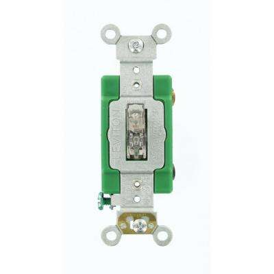 30 Amp Industrial Grade Heavy Duty Double-Pole Pilot Light Toggle Switch, Clear