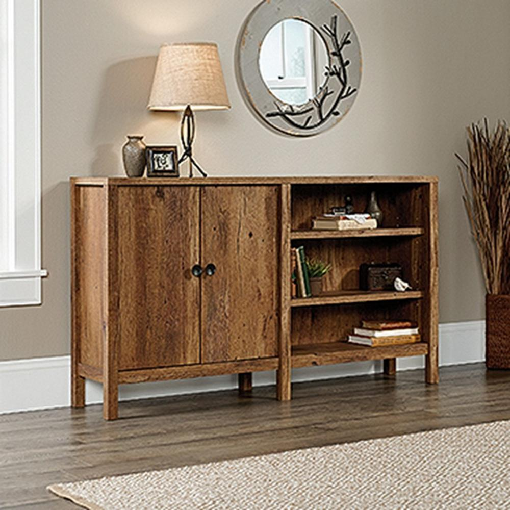 new grange vintage oak 2 door console table