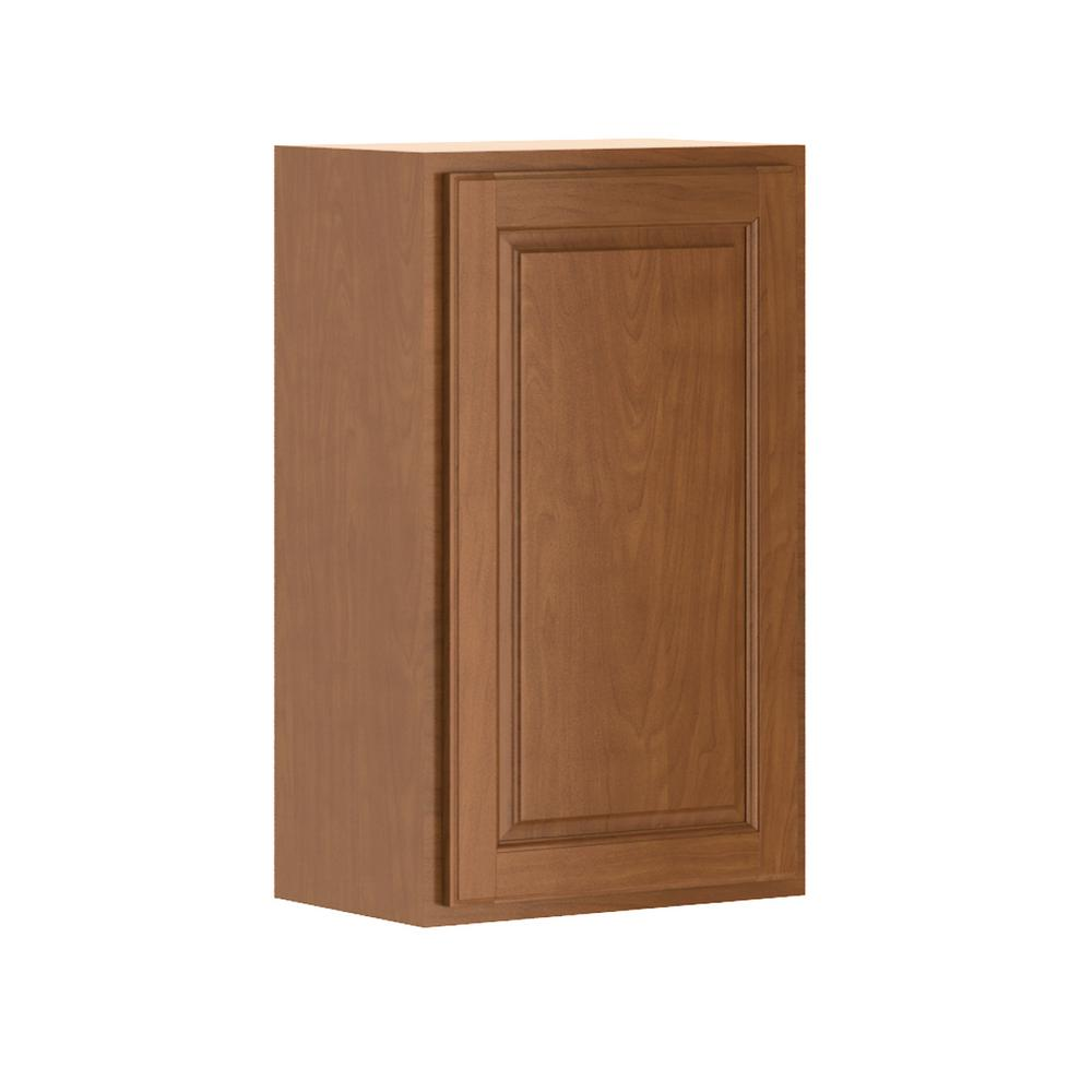 Hampton Bay Madison Assembled 18x30x12 In Wall Cabinet In Cognac W1830 Mcog The Home Depot