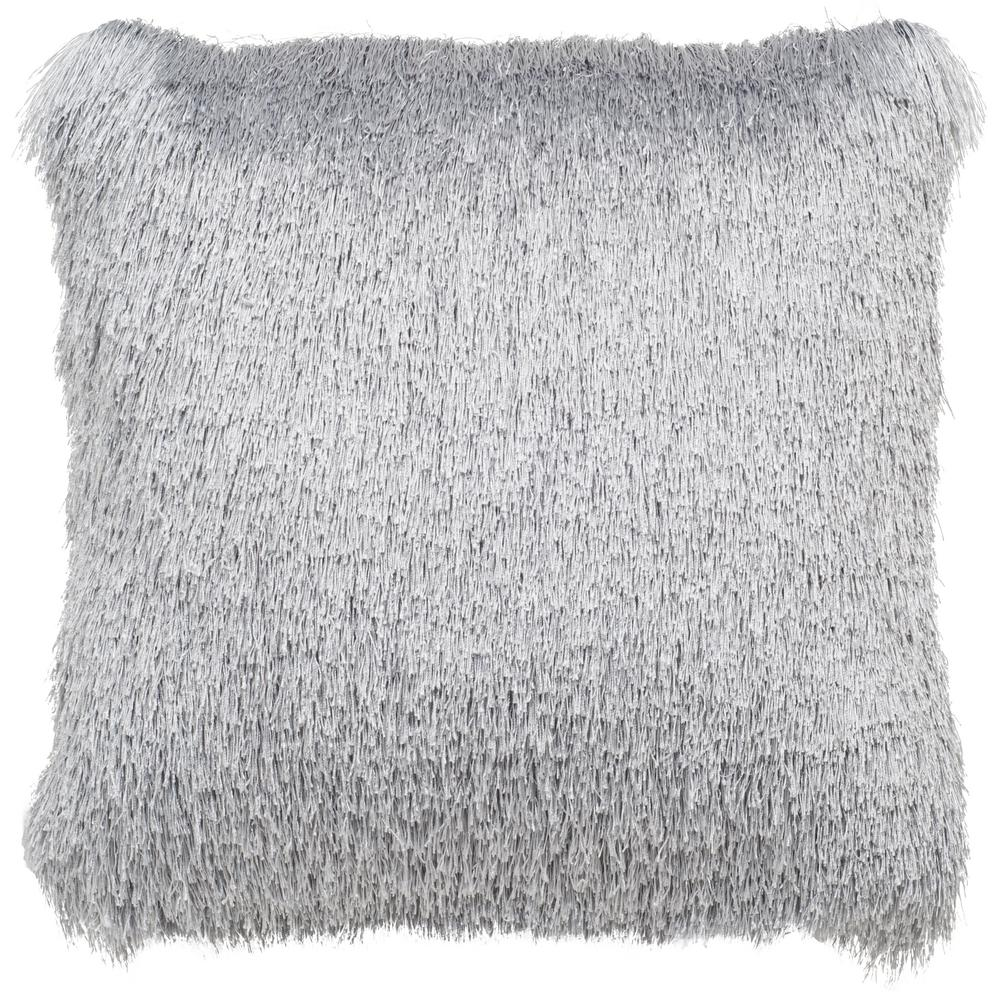Soleil Silver Square Outdoor Throw Pillow