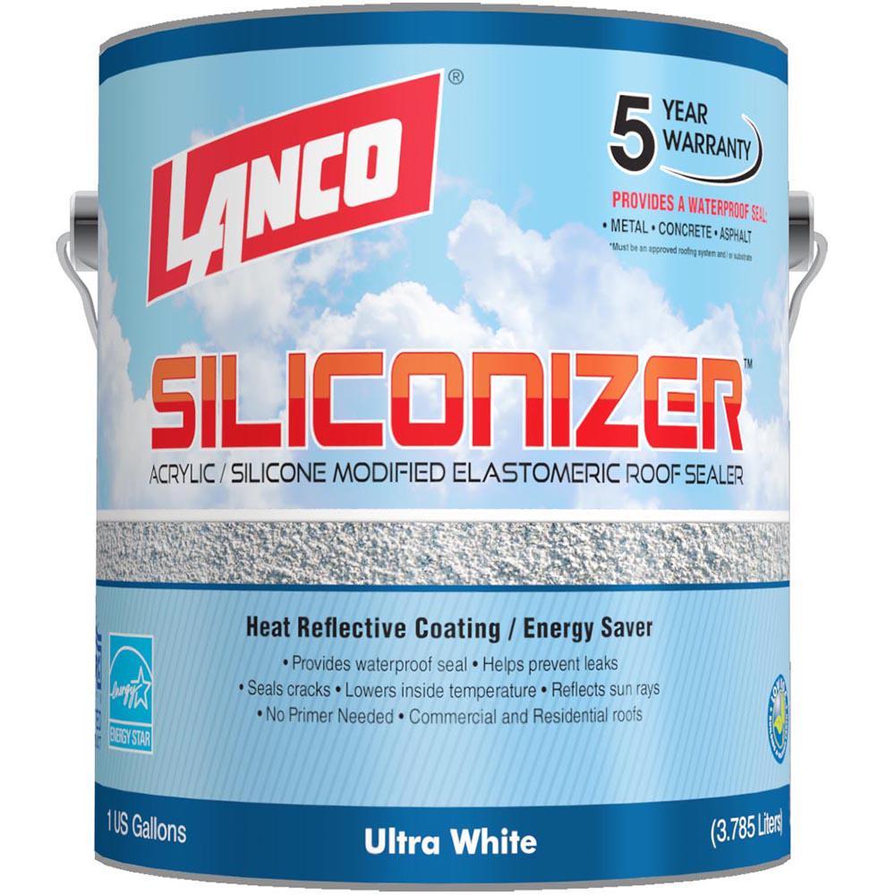 Lanco 1 Gal  Siliconizer Elastomeric Roof Coating
