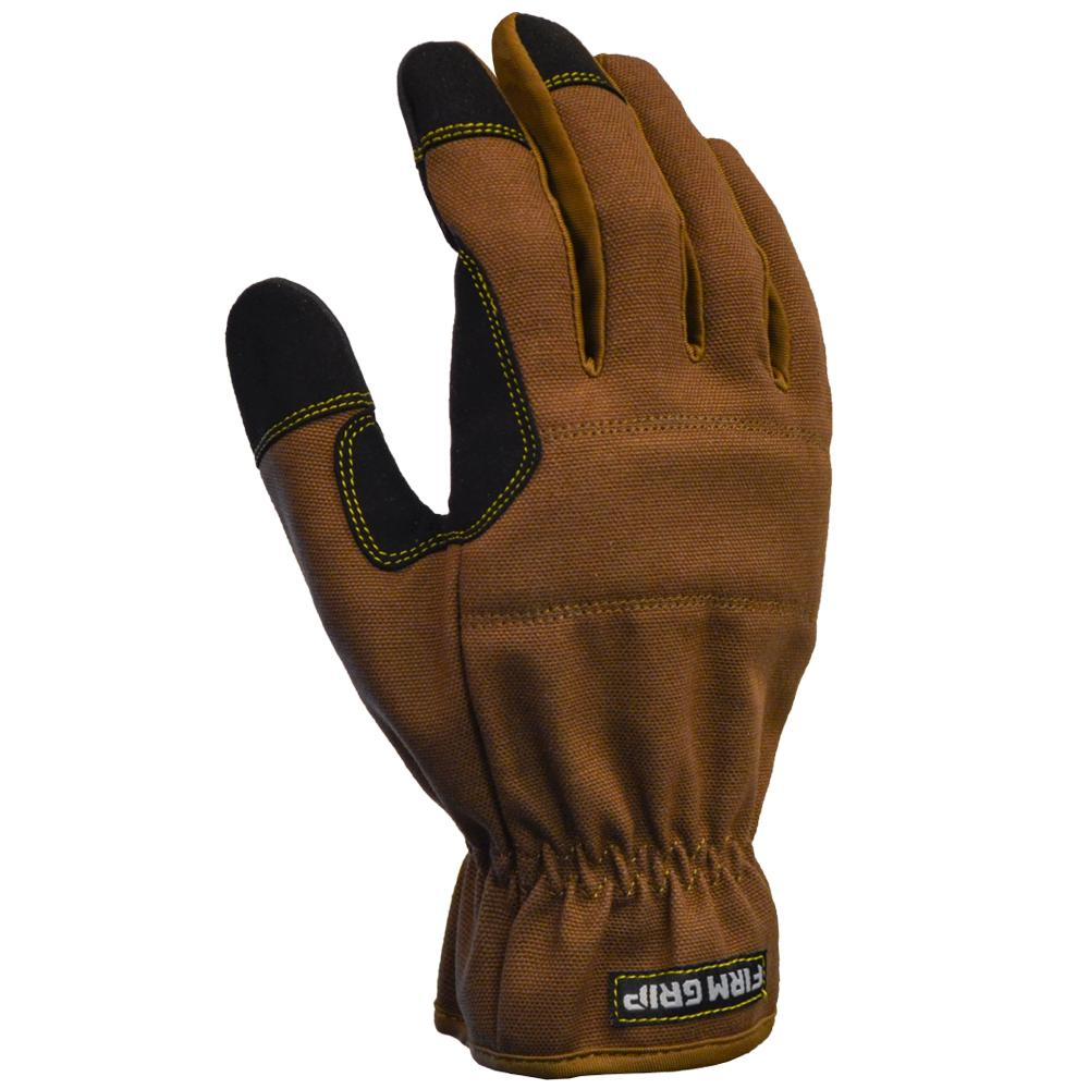 FirmGrip Firm Grip Duck Utility Large Glove (1-Pair), Adult Unisex, Brown