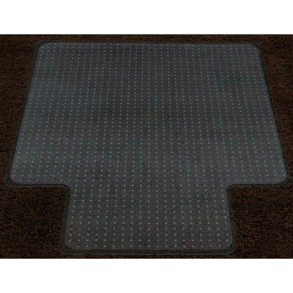 Super Grip Clear 36 in. x 48 in. with Lip Vinyl Carpet Chair Mat