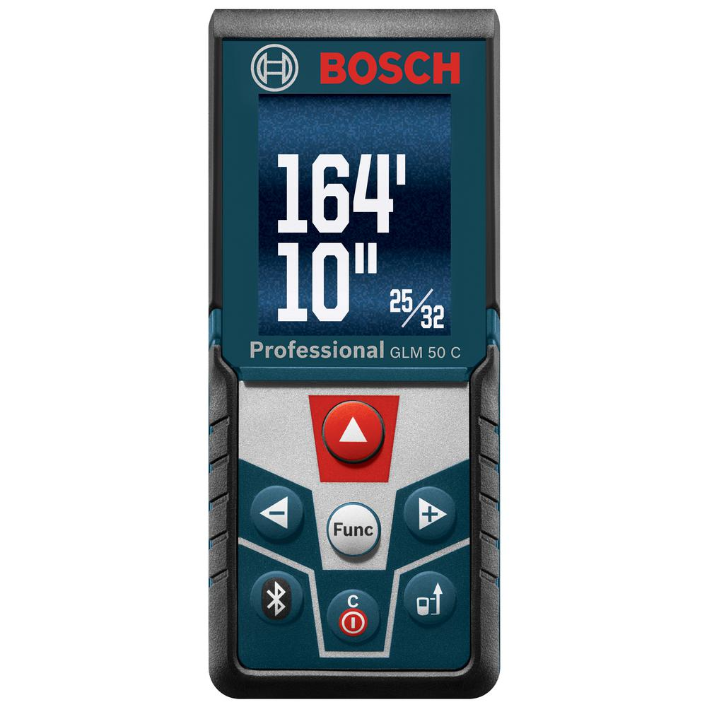 Bosch BLAZE 165 ft. Laser Distance Measurer with Bluetooth and Full Color Display