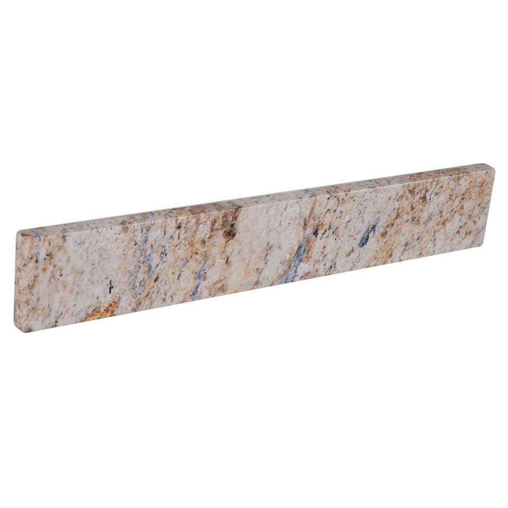 St. Paul 20-4/9 in. Stone Effects Sidesplash in Tuscan Sun